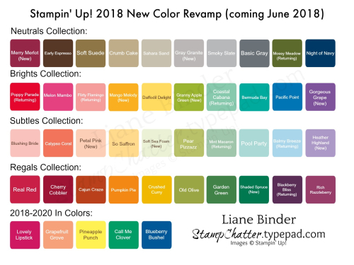 2018 Stampin' Up! New Color www.stampchatter.typepad.com