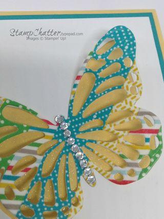 Washi butterfly glitter