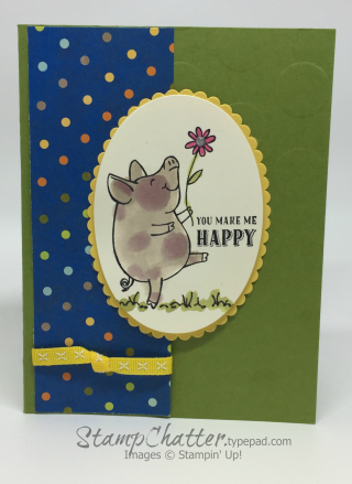 ThisLittlePiggy You make me happy www.stampchatter.typepad.com